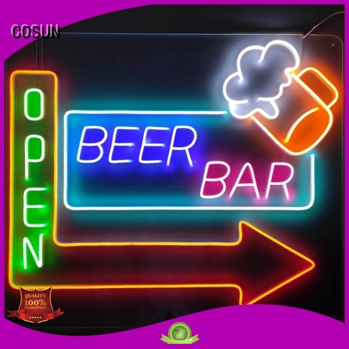Latest fluorescent bar signs hot-sale Suppliers for decoration