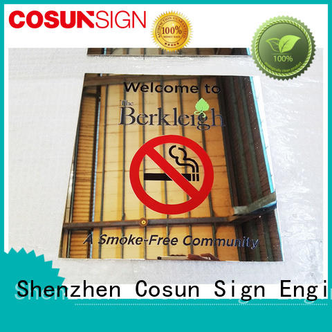 COSUN customized logo bathroom door sign for wholesale