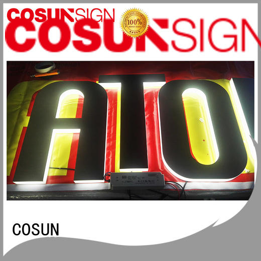 High-quality pole sign holder clear letter free sample for shop