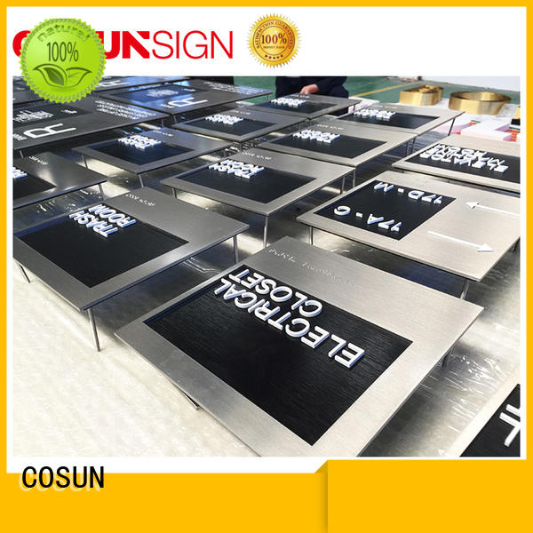 COSUN braille hotel room number plates buy now