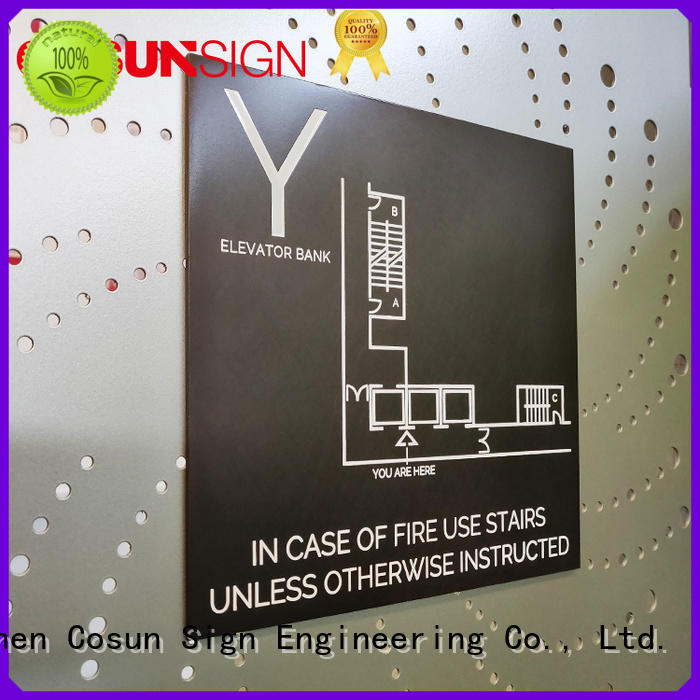 COSUN New door safety signs for business for warning