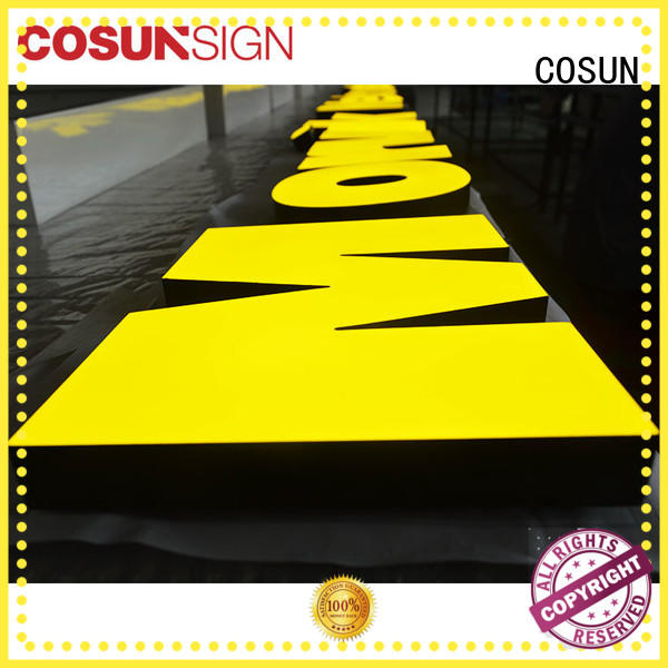COSUN Custom acrylic sign stand Suppliers for shop