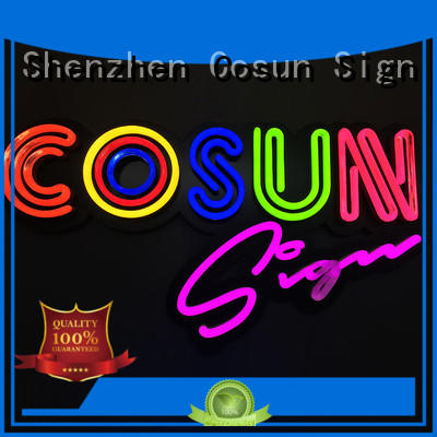 COSUN best factory price neon sign bar customized for warning