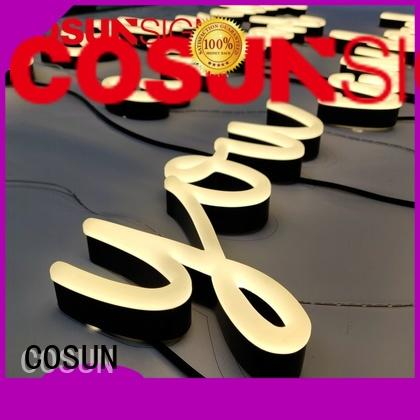 COSUN hot-sale custom light up bar signs factory for decoration