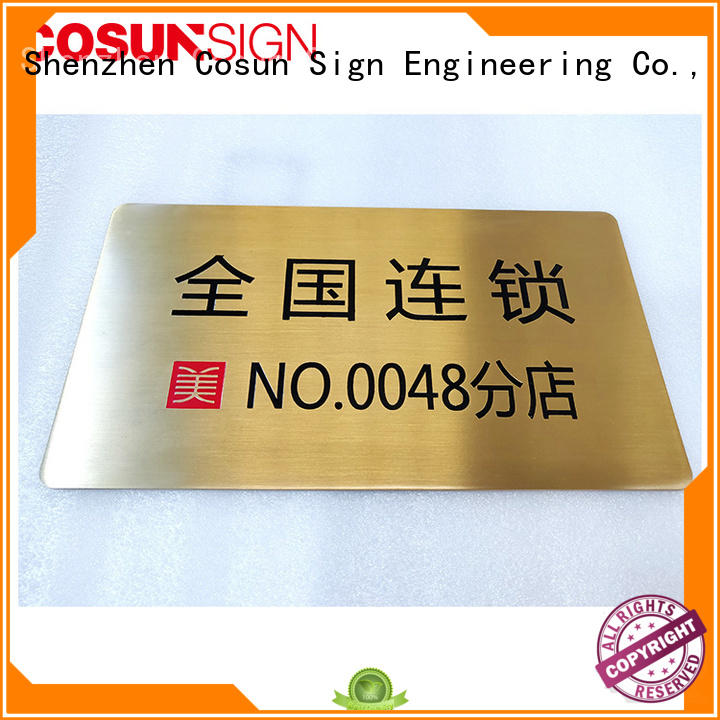 COSUN painted house name plaques safety sign for toilet signage