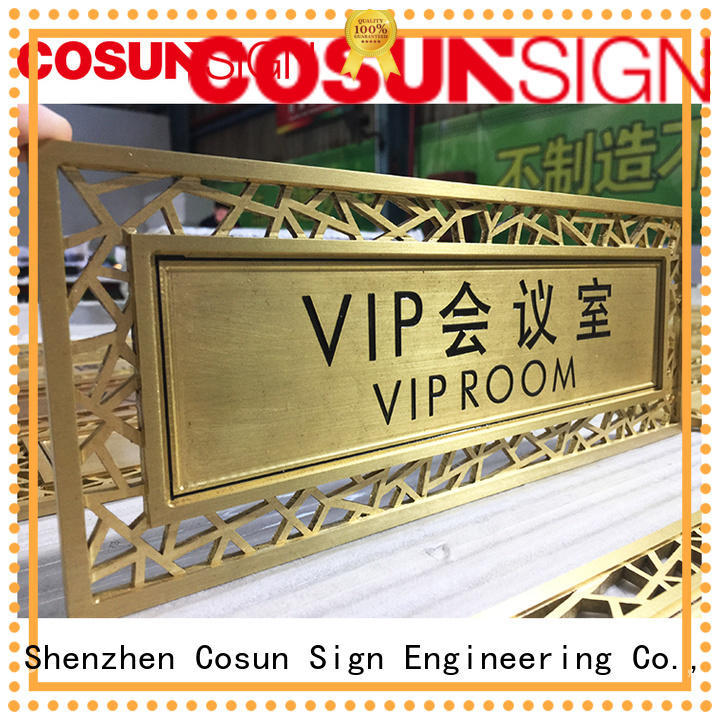 Cosun Customized Shape Custom Gold Plate Logo