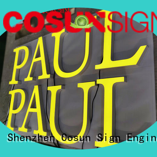 COSUN clear letter clear acrylic wall sign holders easy installation for restaurant