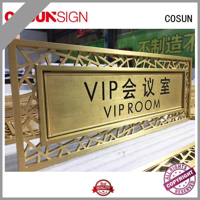 customized acrylic door signs wholesale for COSUN