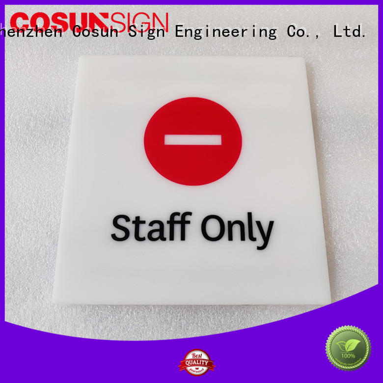 COSUN stainless steel personalised office door plaques Suppliers for wholesale