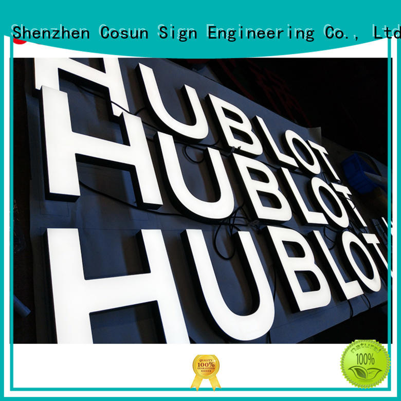 COSUN plastic acrylic office wall signs on-sale for restaurant