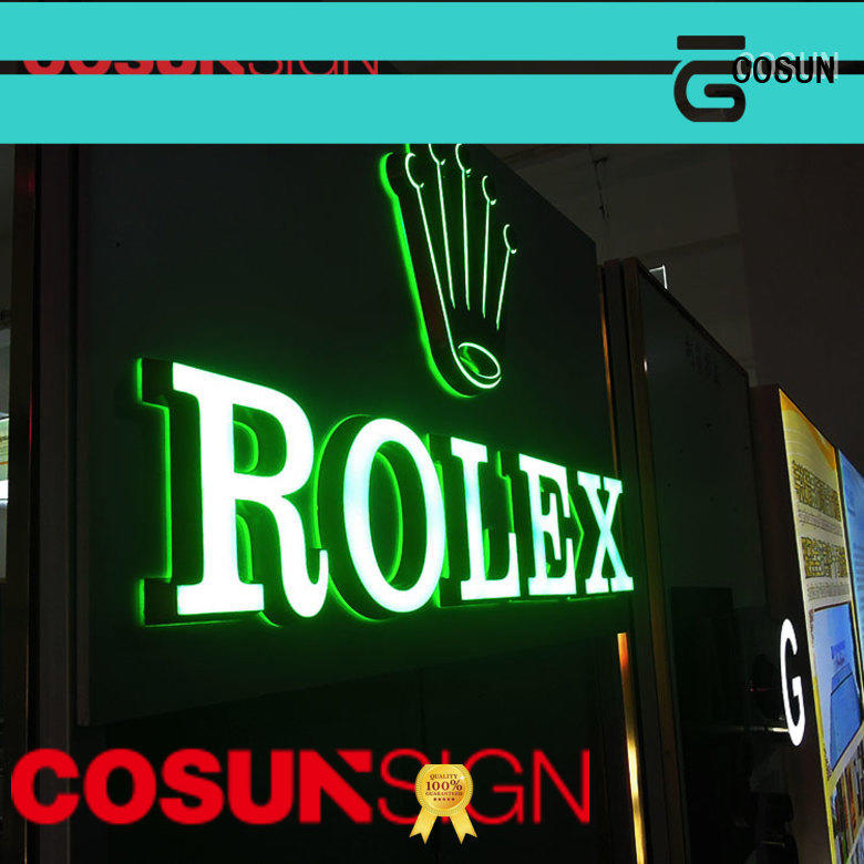 COSUN competitive price plastic signs outdoor for shop