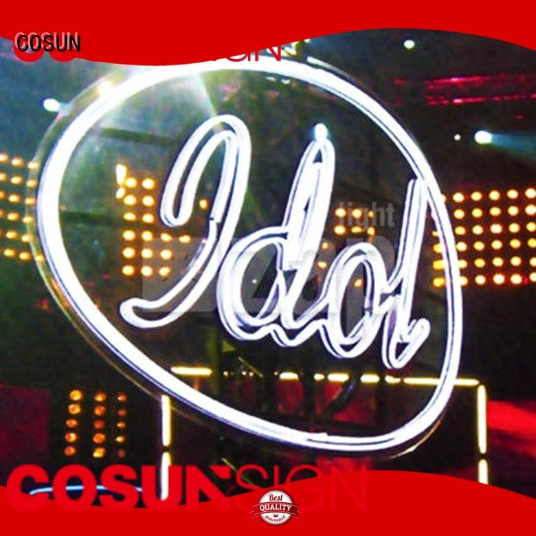 COSUN Best interior neon signs factory for warning