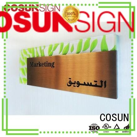 Top sign on the door acrylic manufacturers for toilet signage