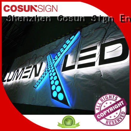 COSUN New acrylic signage maker company for pub club