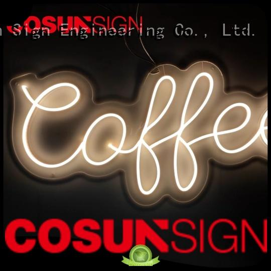 COSUN Wholesale light signs factory for promotion