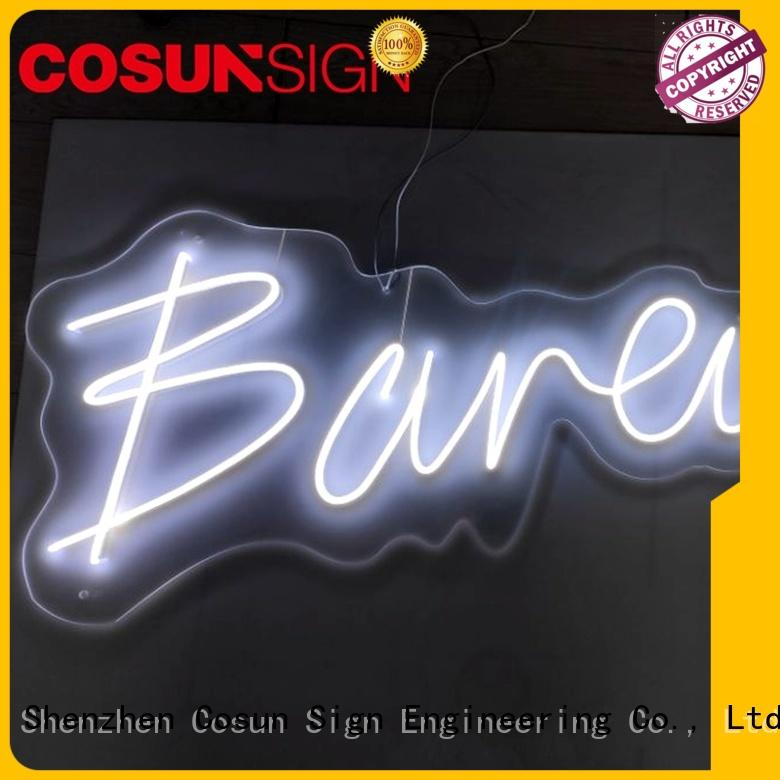 COSUN popular neon sculptures for sale Suppliers for warning