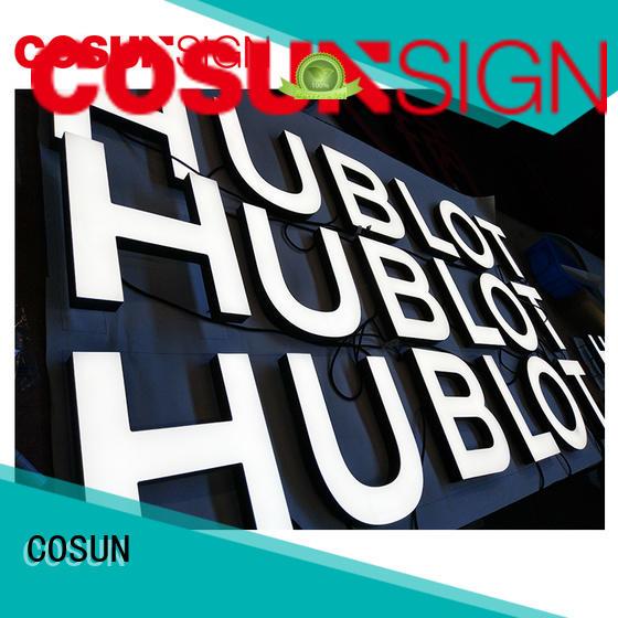 COSUN high-quality acrylic led sign holder for pub club