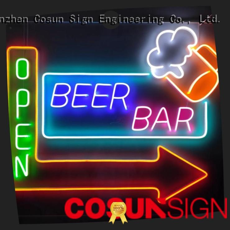 COSUN popular small neon signs Supply for house