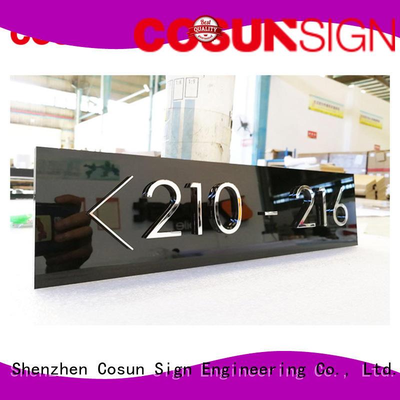 COSUN Latest wooden door plaque factory for toilet signage