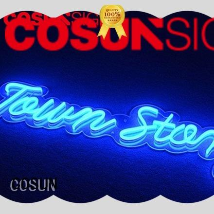COSUN Latest coffee neon sign factory for decoration