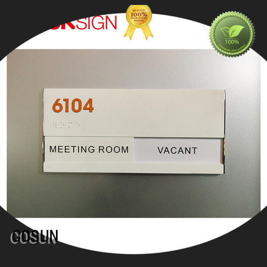 COSUN Latest office door sign with logo for business for decoration