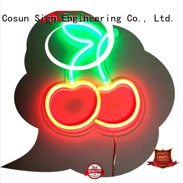 COSUN hot-sale retro neon signs manufacturers for warning