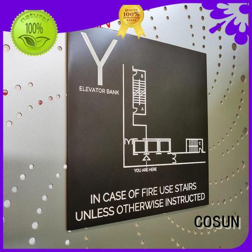 COSUN stainless steel ideas for door signs Suppliers for door