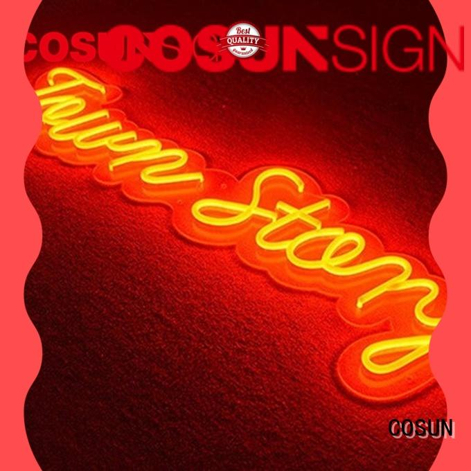 COSUN eye-catching purchase neon sign company for decoration