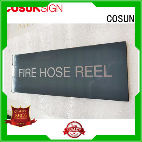 brass door sign thermoforming for decoration COSUN