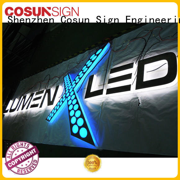 COSUN high-quality acrylic signs toronto on-sale for shop