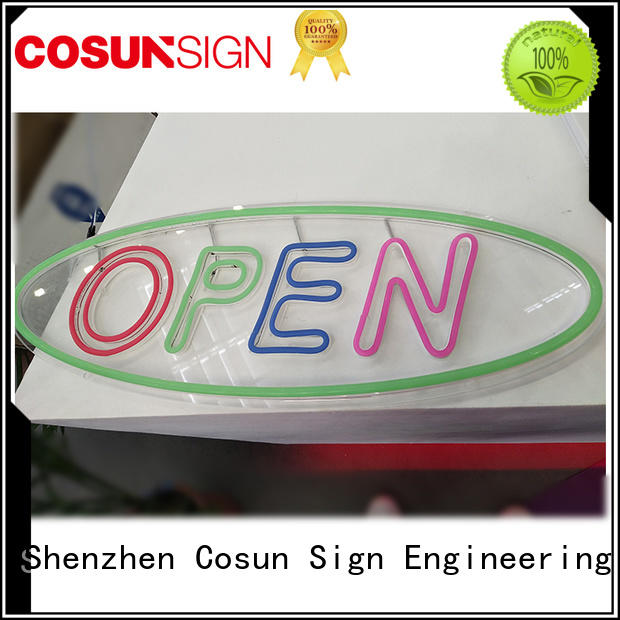 Custom backlit signage hot-sale Supply for promoting