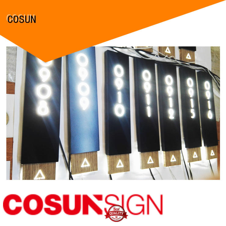COSUN Latest door signs nz factory for warning
