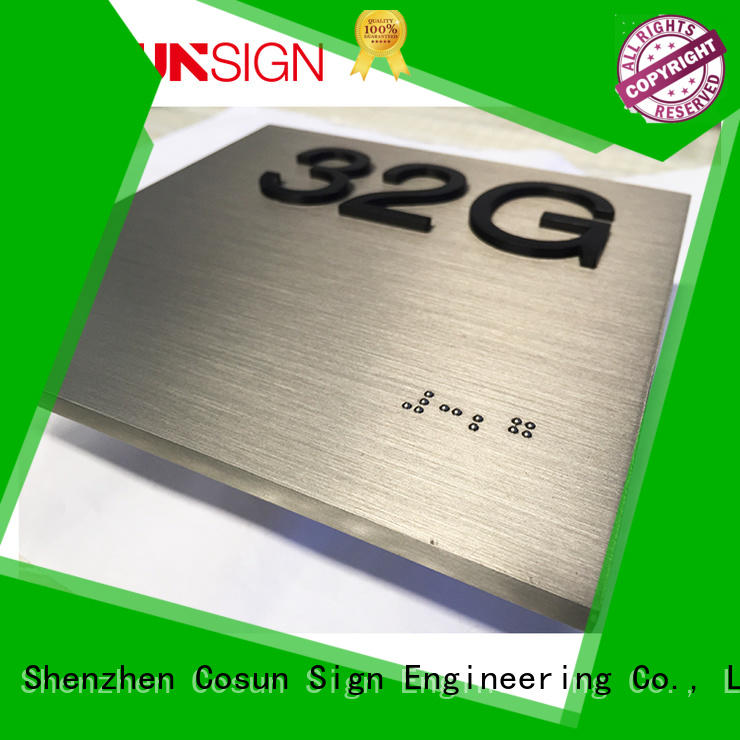 polishing number plate designs buy now for toilet signage
