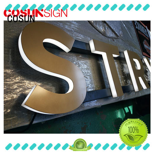 COSUN clear letter lucite sign holders at discount for shop