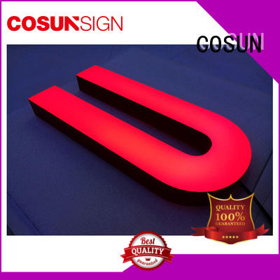 Latest engraved acrylic led signs clear letter free sample for shop