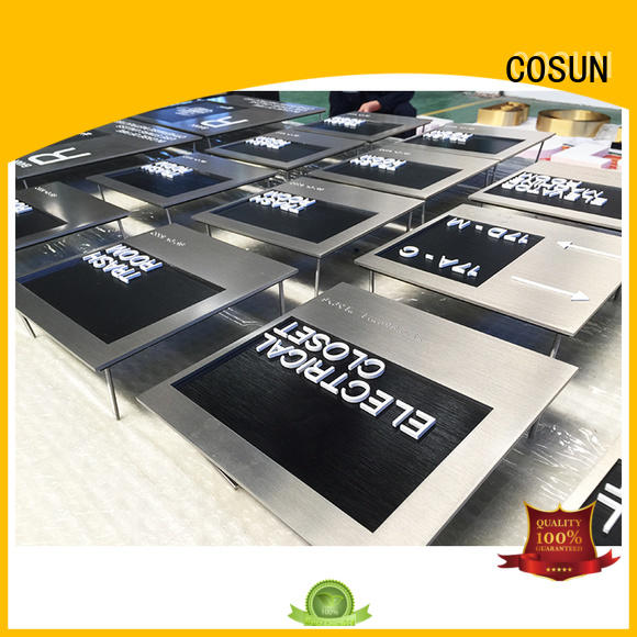 COSUN hotel room number plates logo custom for toilet signage