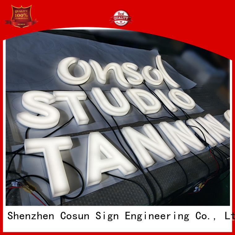 COSUN high-quality lighted acrylic signage company for restaurant