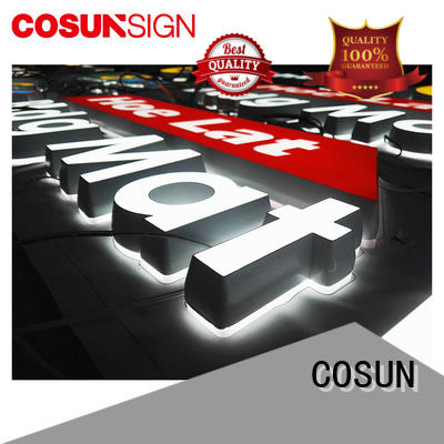 COSUN Top sign hanger for restaurant
