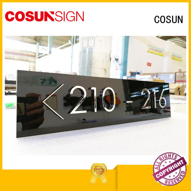 COSUN painted office door plaques Supply for wholesale