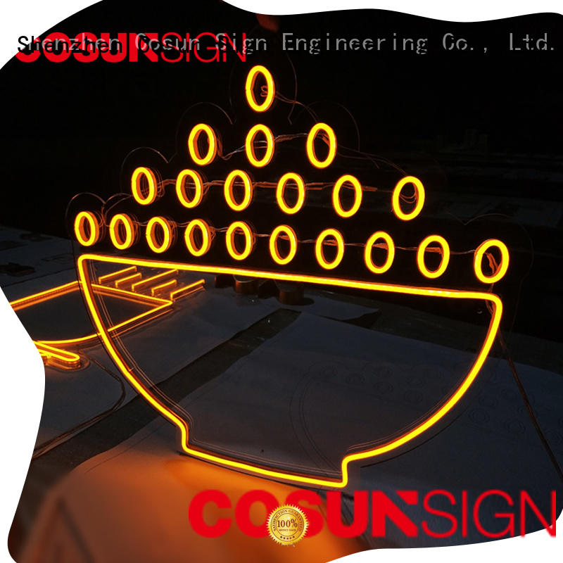 COSUN New sign manufacturing factory for promotion