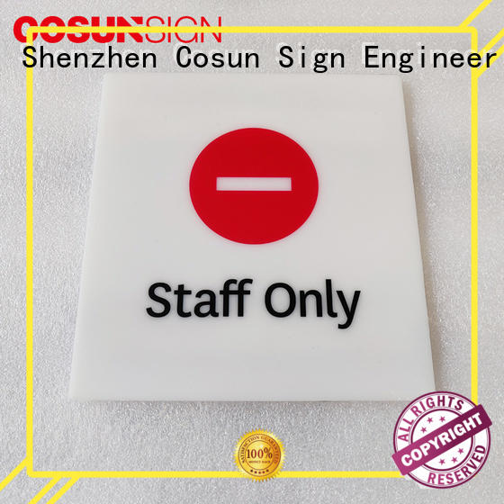 painted restroom door sign laser cutting for toilet signage COSUN