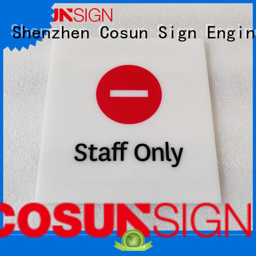 COSUN polishing occupied door sign company for toilet signage