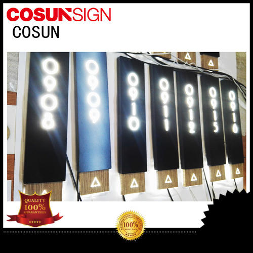 COSUN polishing college door signs company for toilet signage