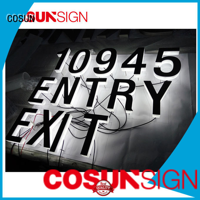 COSUN clear letter custom engraved acrylic signs free sample inquire now