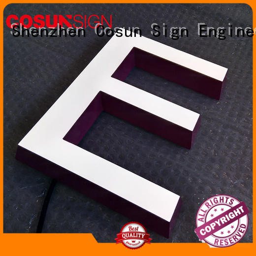 COSUN plastic acrylic shop sign at discount for restaurant