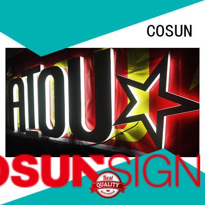 Top acrylic logo sign led base for pub club