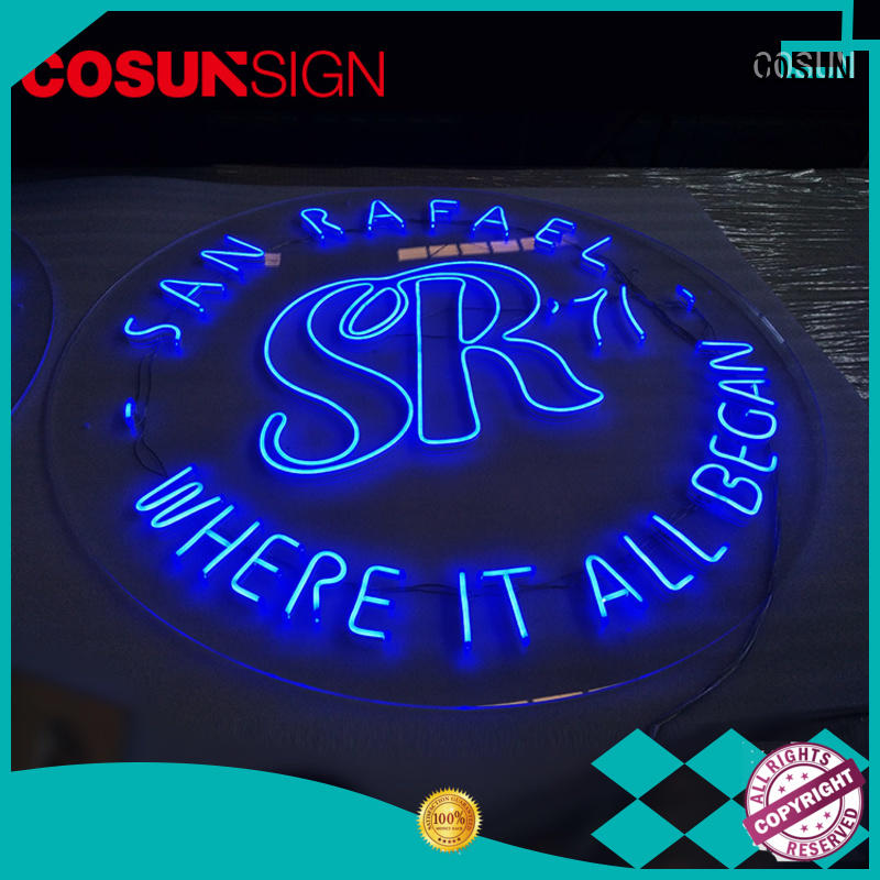 COSUN eye-catching neon sign store factory for promotion