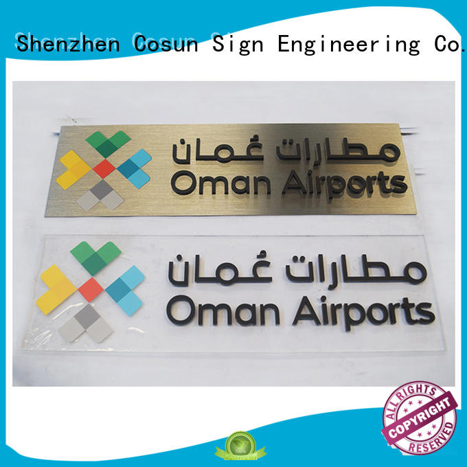 COSUN Best personalised front door signs factory for bar