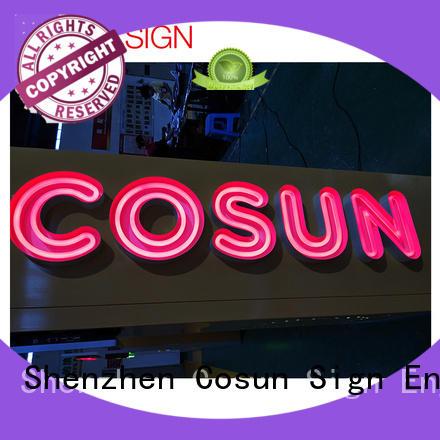 COSUN hot-sale custom illuminated signs factory for restaurant