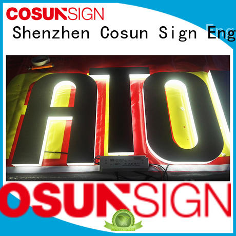 COSUN High-quality acrylic sign holder with brochure pocket company for pub club